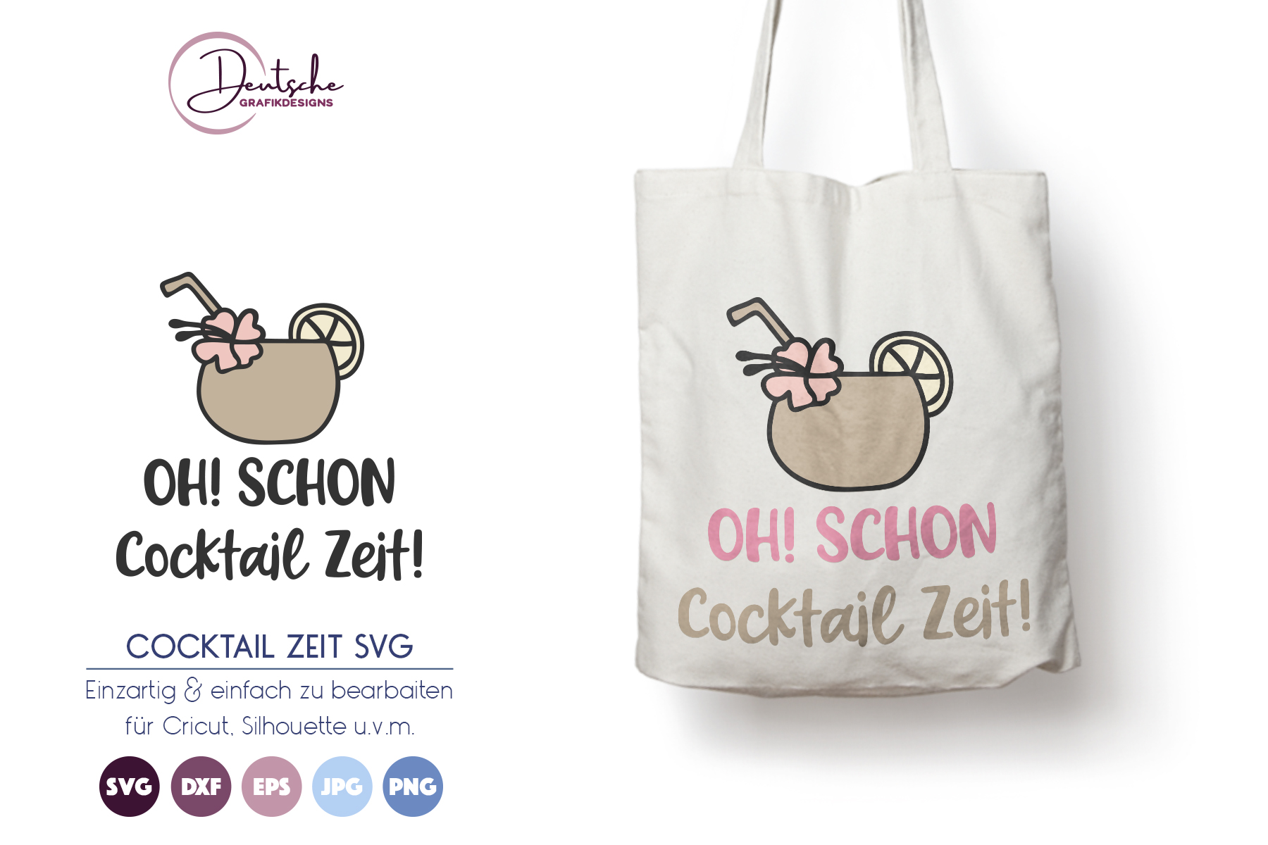 Cocktail Zeit | Sommer SVG example image 1