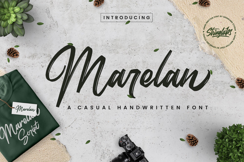 Marelan - Casual Handwritten Font example image 1