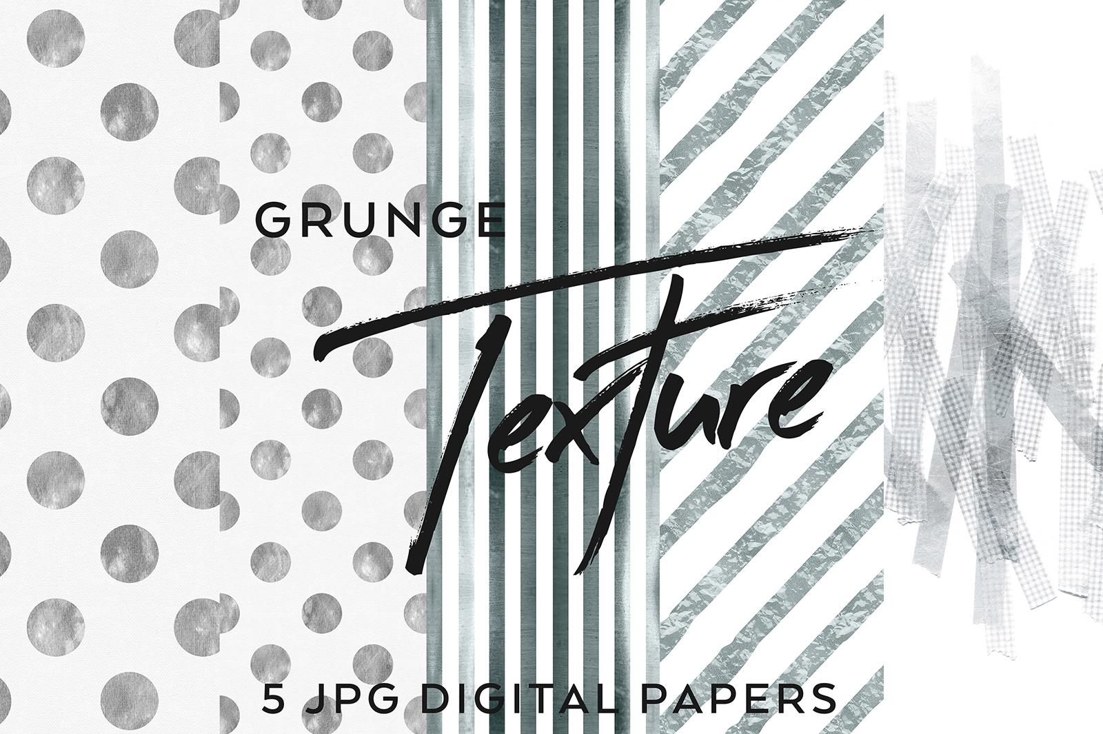 5 Mono Grunge Textures example image 1