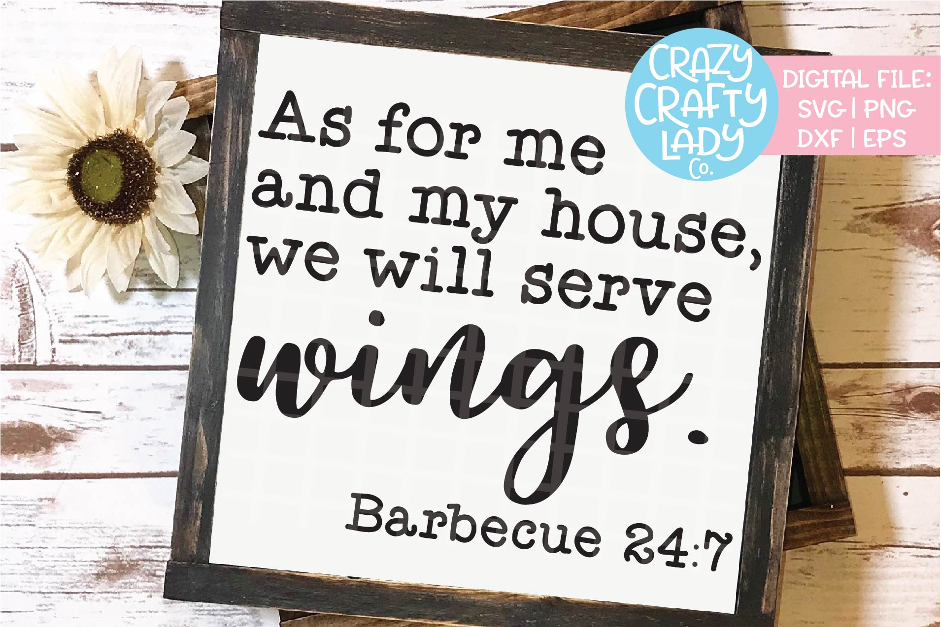As for Me and My House Serve Wings SVG DXF EPS PNG Cut File example image 1