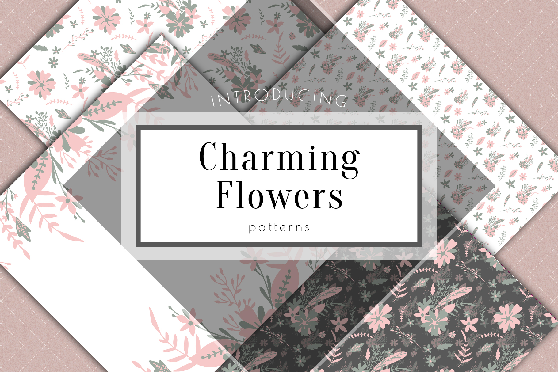 Floral Digital Paper Wedding Flowers Background Planner