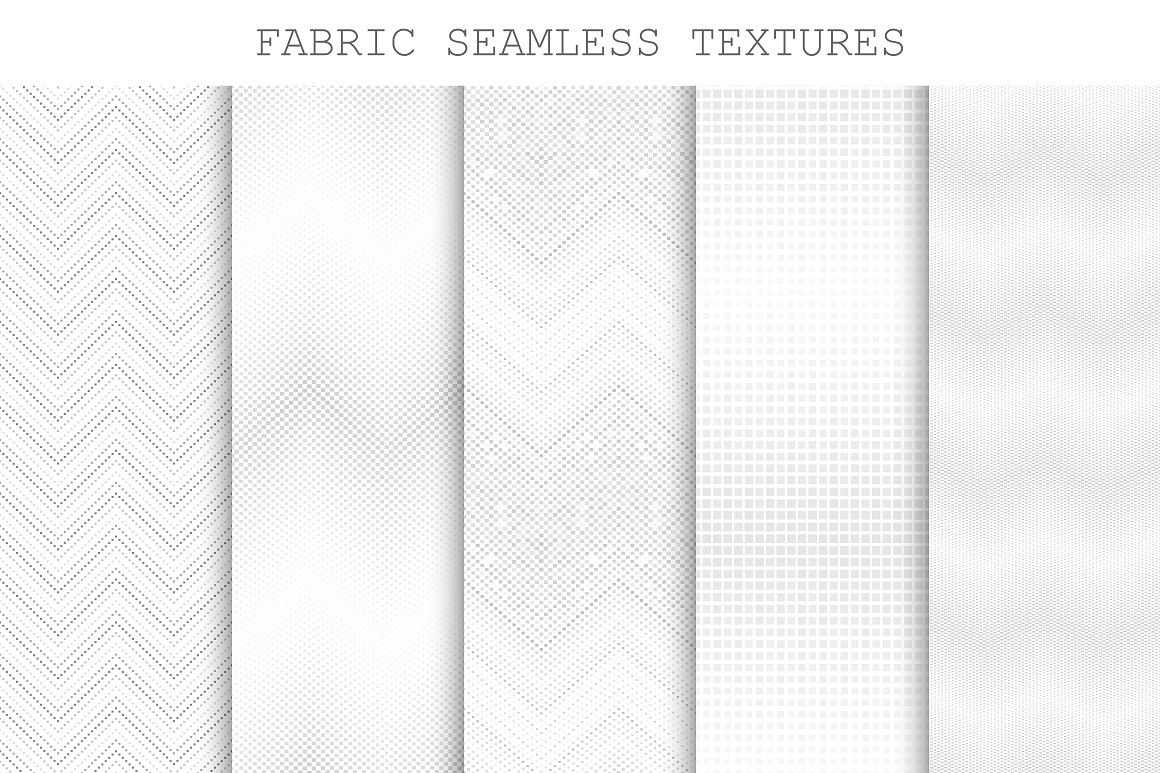 Seamless decorative fabric textures. example image 1