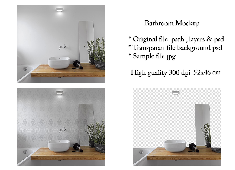 Bathroom Interior Mockup Example Image 1