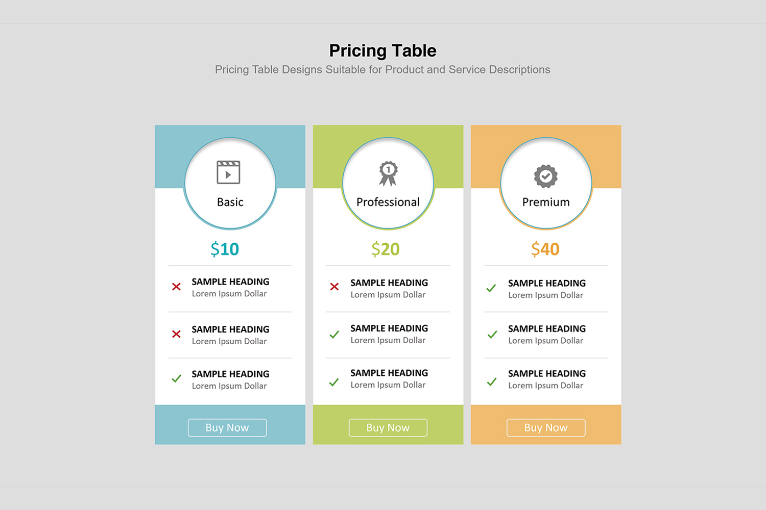 Price Table  Infographic Presentation example image 4