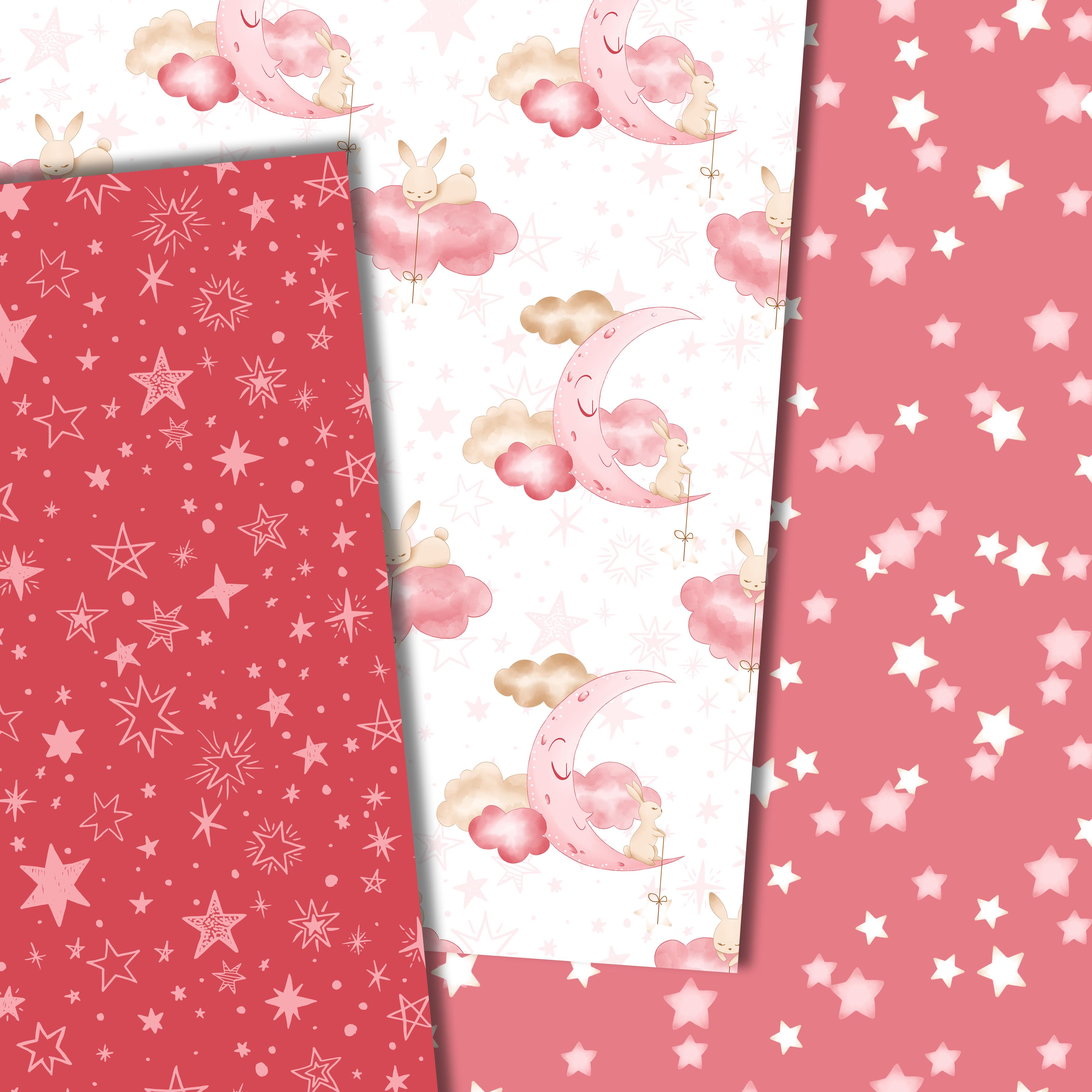 Good night bunny pattern in pink example image 6