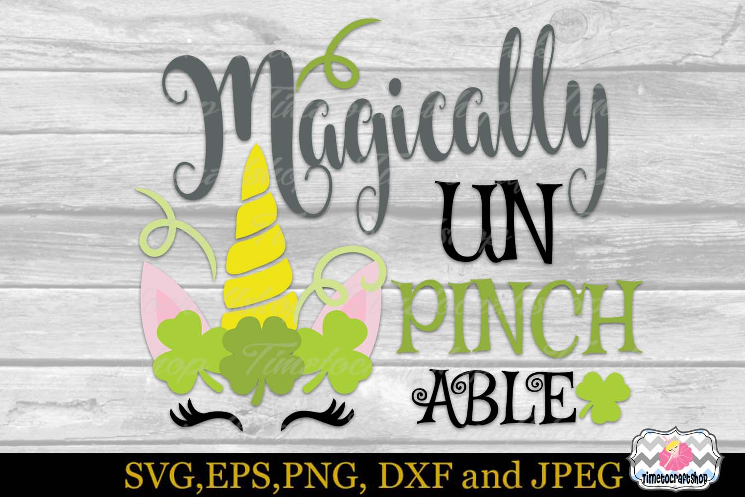 SVG, Dxf, Eps & Png St Patrick's Magically Unpinchable example image 2