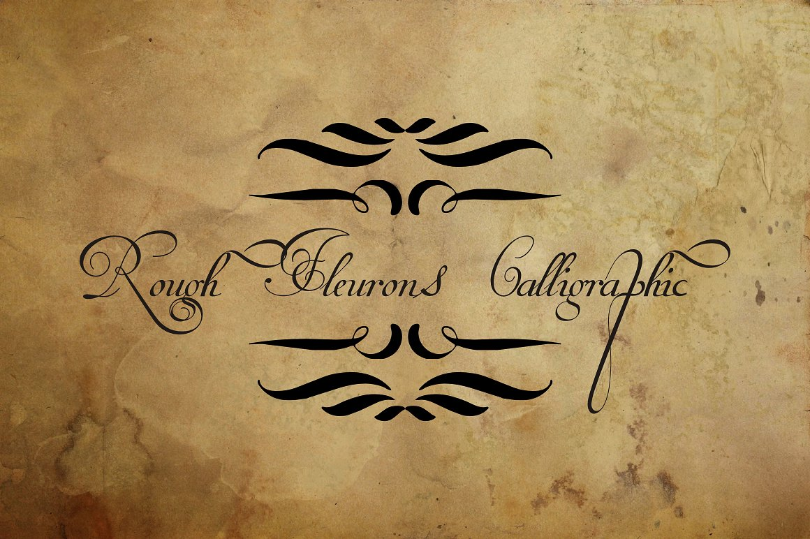 Rough Calligraphic Fleurons example image 2