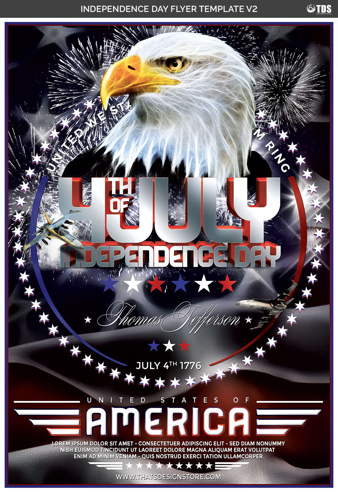 Independence Day Flyer Template V2 example image 4