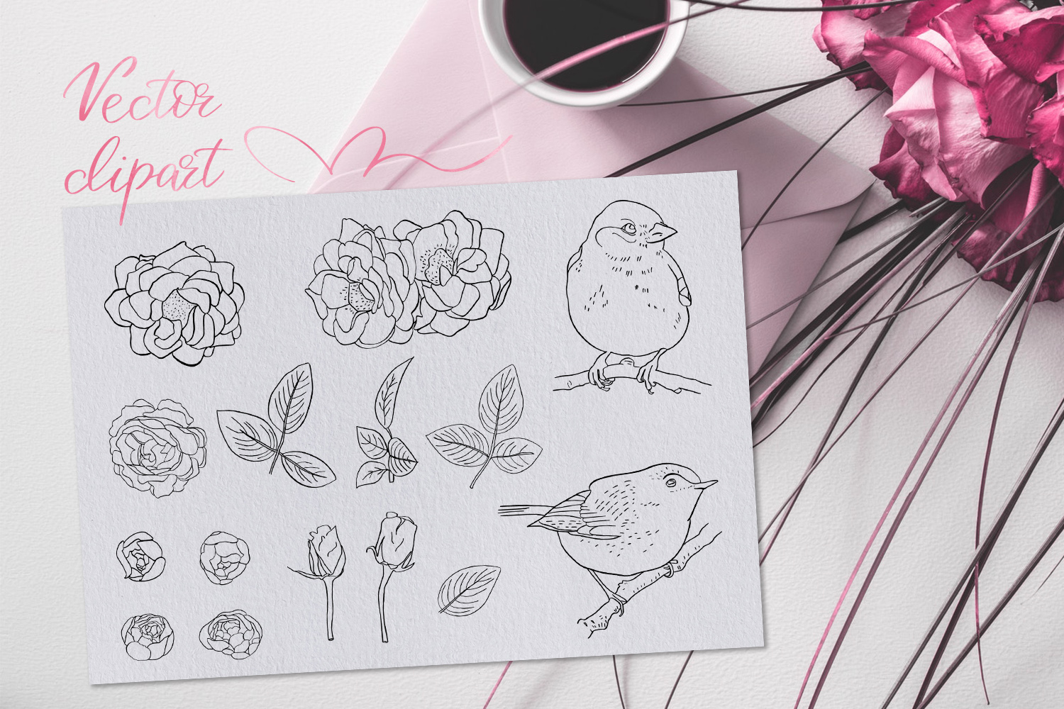 Birdy Roses | Script font and Swashes example image 14