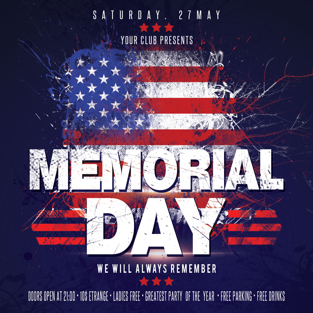 Memorial Day Flyer example image 4