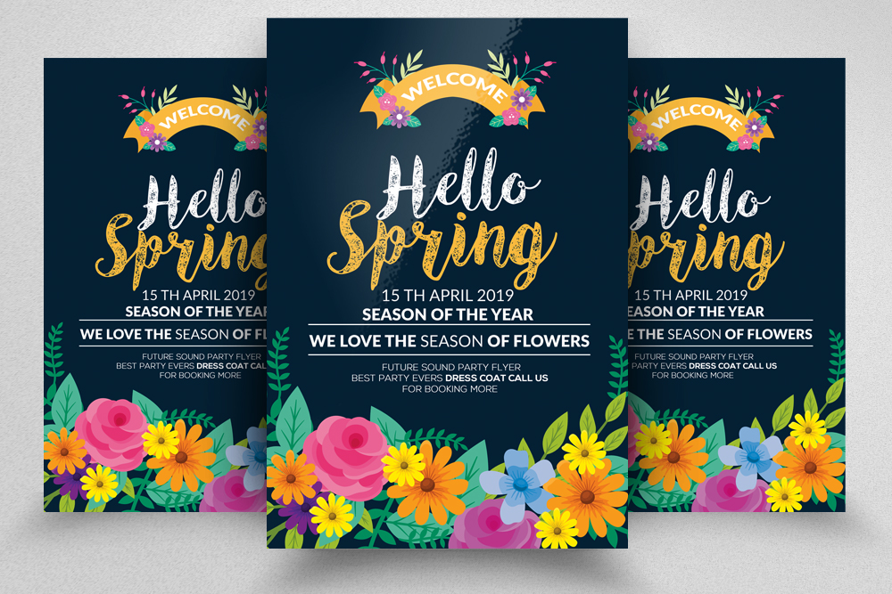 Hello Spring Flyer Template example image 1