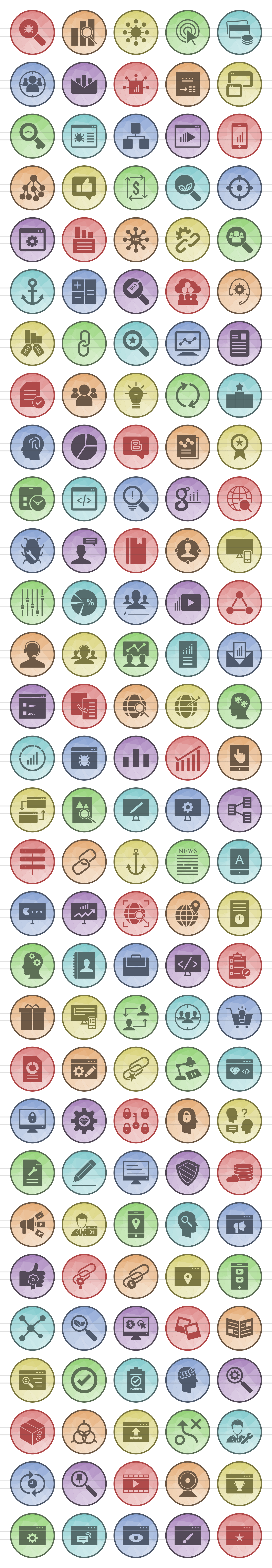 150 IT Services Filled Low Poly Icons example image 2