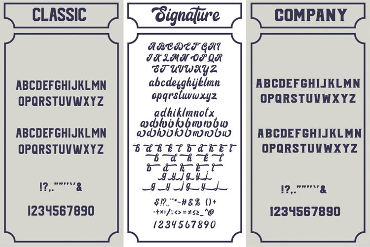 Signature Script Trio Font example image 10