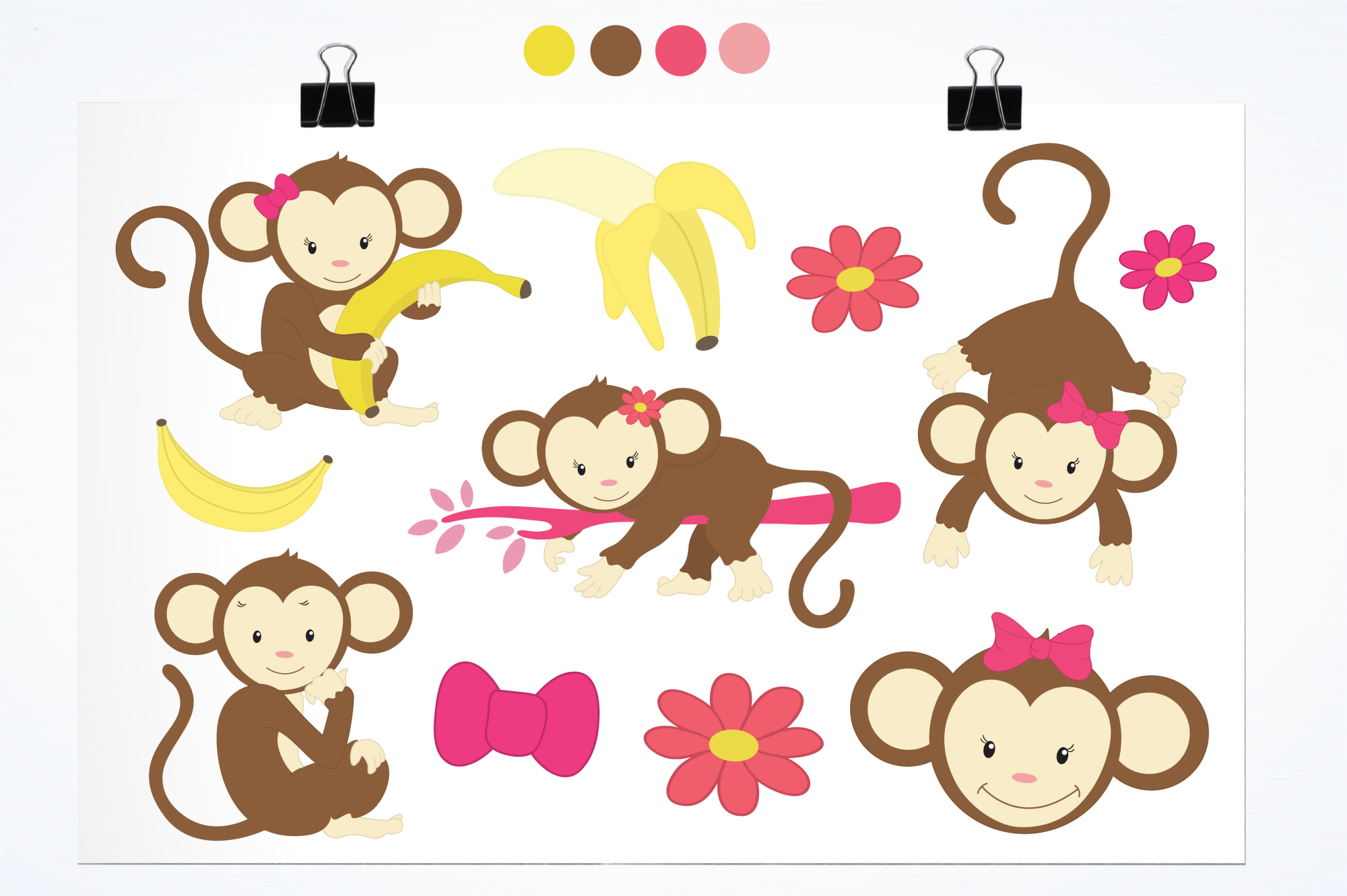 Pretty Monkeys graphics and illustrations example image 2