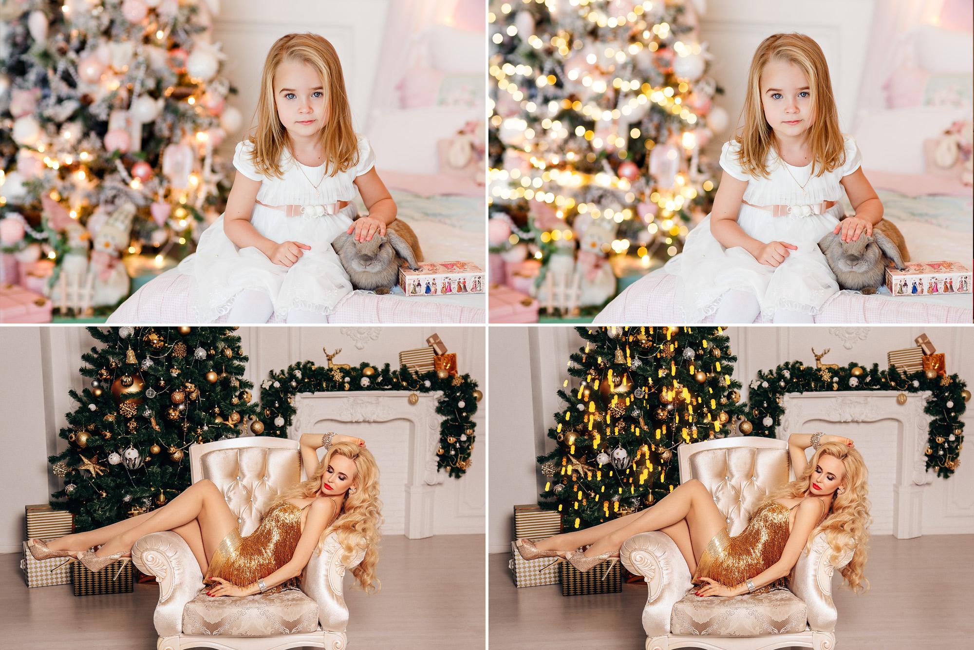 25 Christmas Tree Lights Overlays example image 3