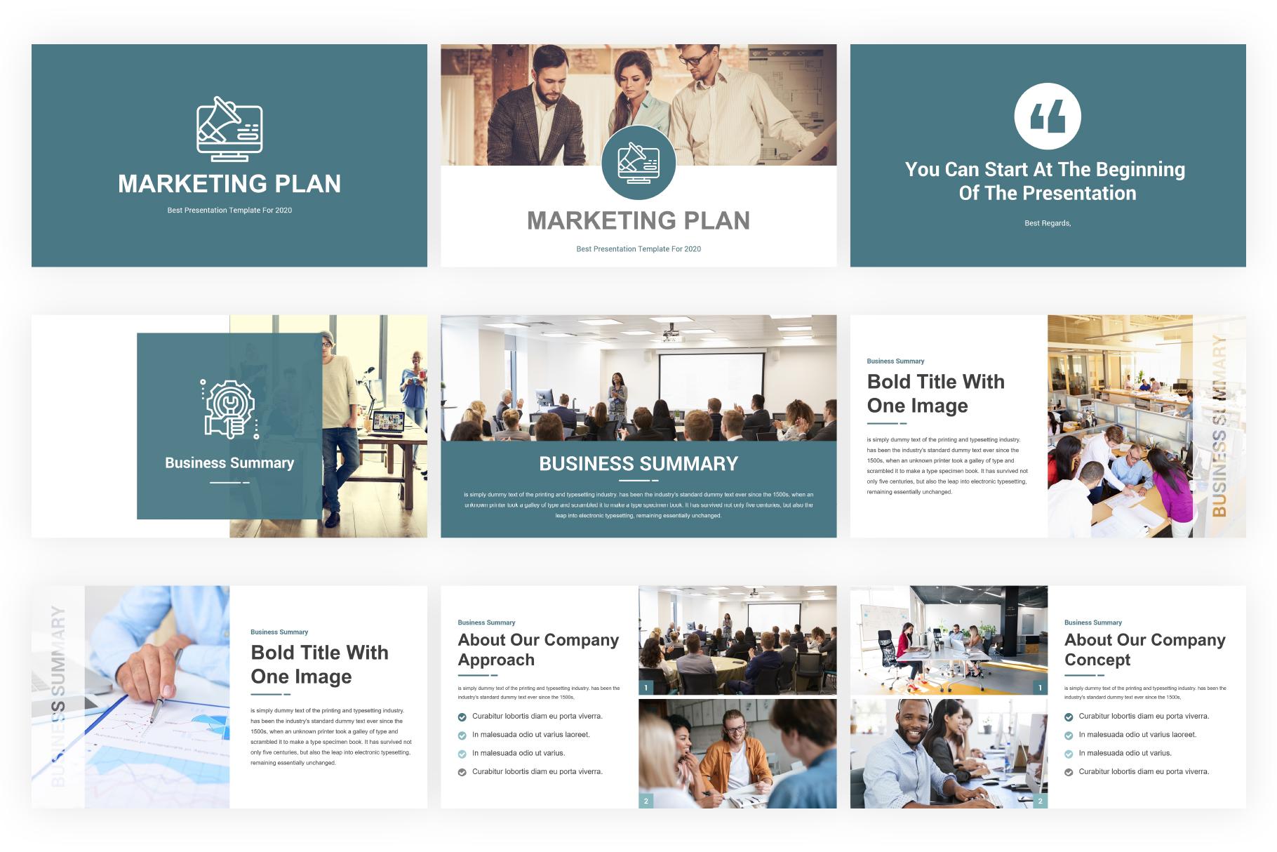 Marketing Plan PowerPoint Presentation Template example image 2