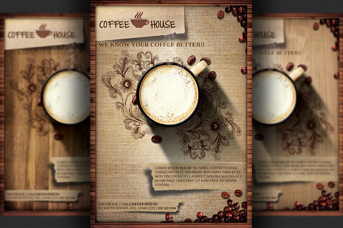 Coffee Shop flyer template example image 2
