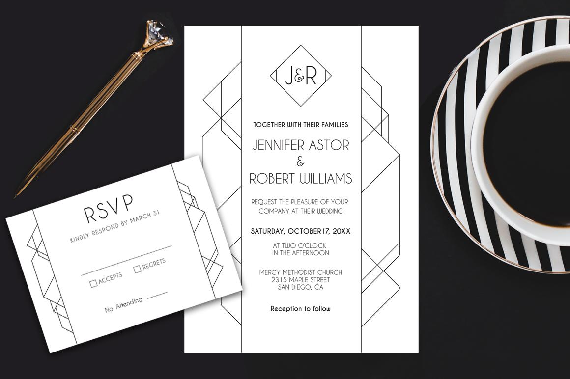 Modern Deco Wedding Suite example image 1