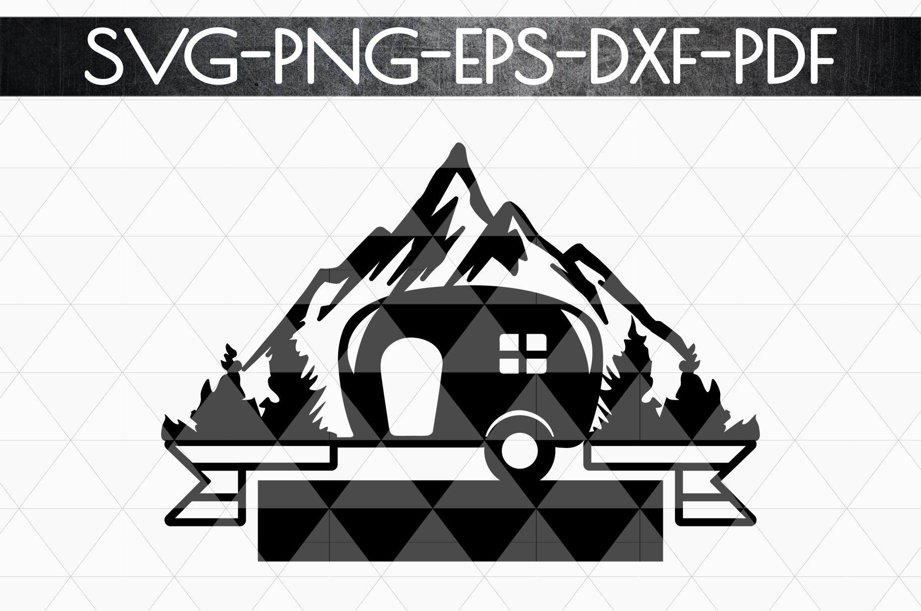 Camper Life Sign Papercut Template, Adventure Cut Files, SVG example image 4