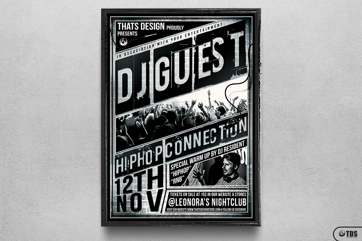 DJ Guest Flyer Template V2 example image 6