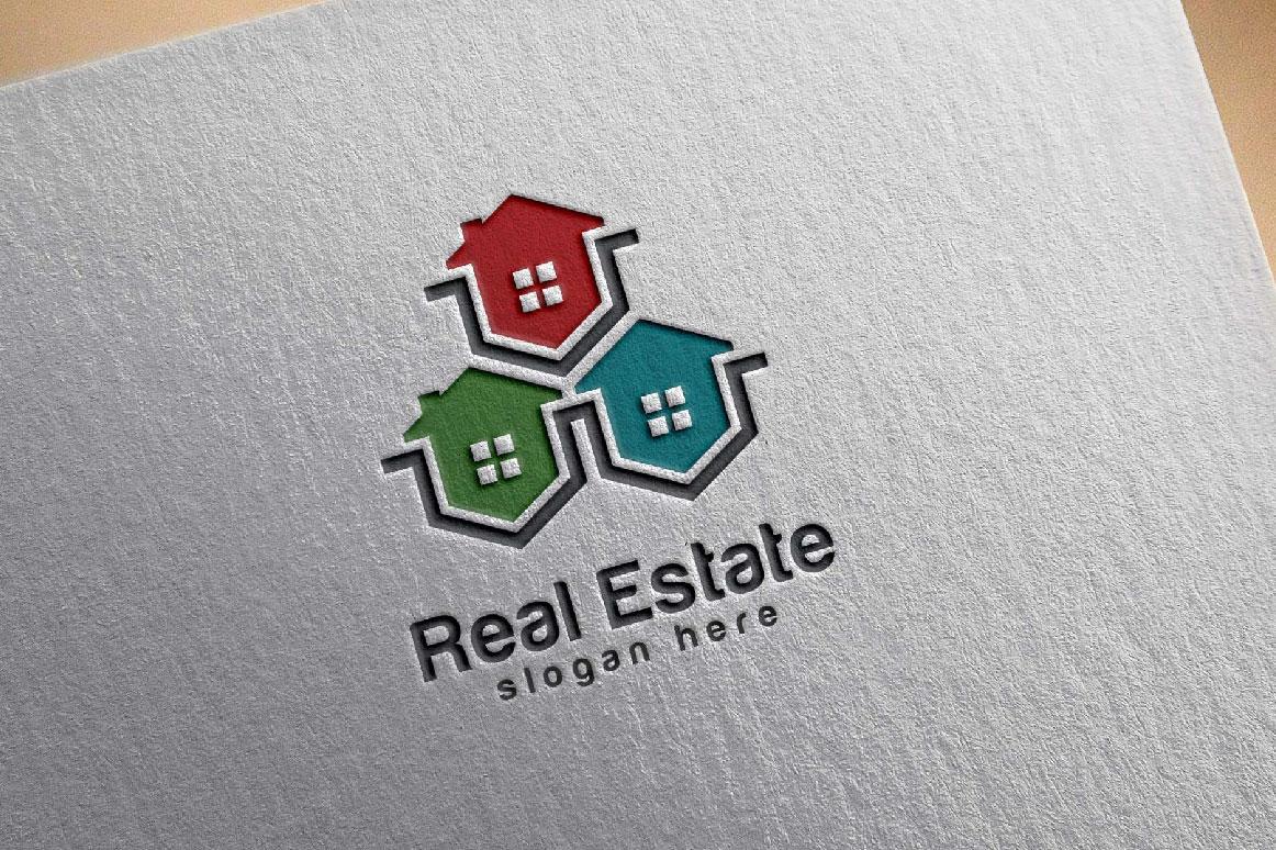 Real Estate logo, Abstract home logo example image 2