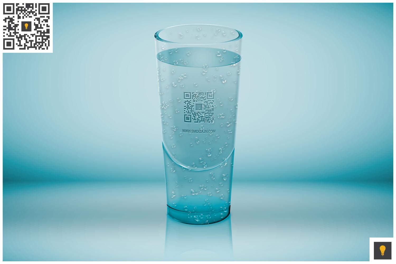 Logo Mockup on Translucent Glass example image 2