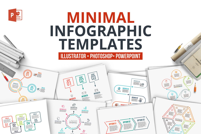 Minimal infographic PPT presentation example image 1