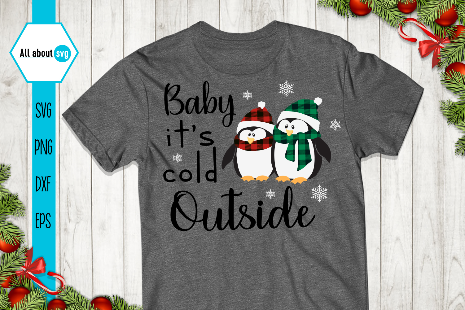 Baby it's cold outside SVG example image 3
