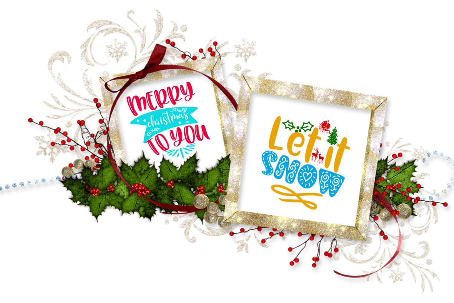 Christmas Quotes Overlays- Text Overlays-Holiday Clipart example image 2