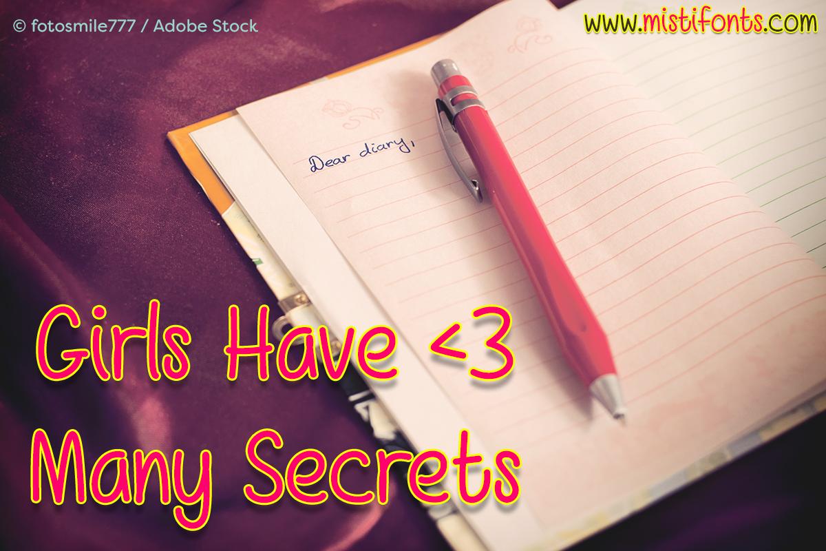 Girls Have Many Secrets example image 1