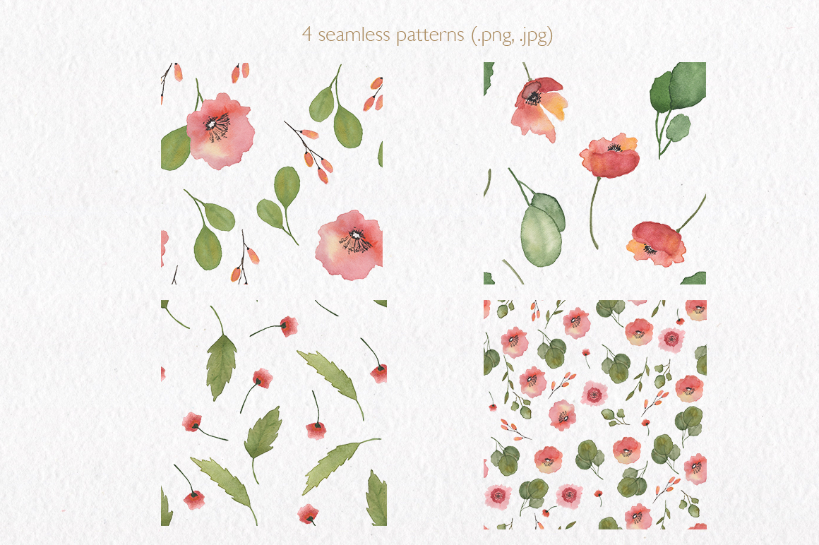 Spring florals. Watercolor floral collection. example image 5