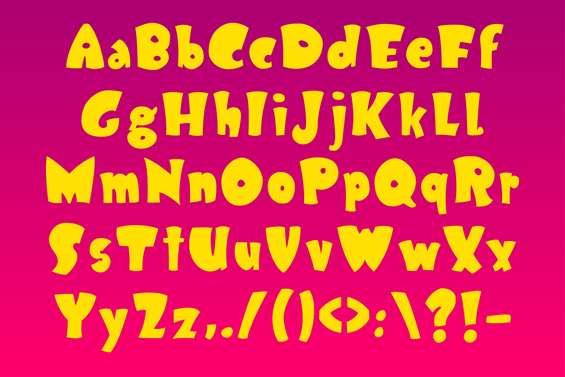 KLOPSY - funny bold display font example image 2
