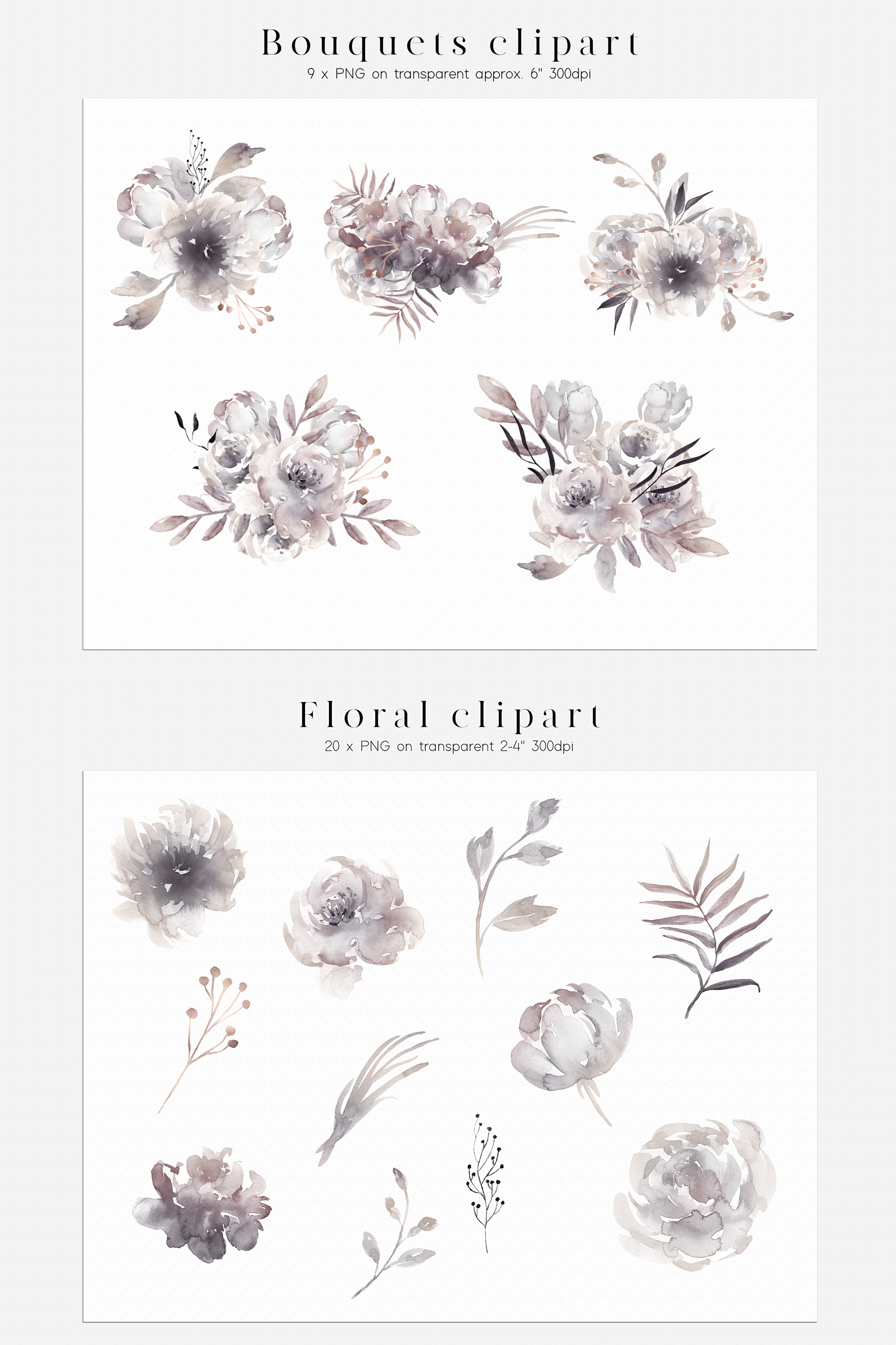 Watercolor Moon Phases Design Bundle example image 6
