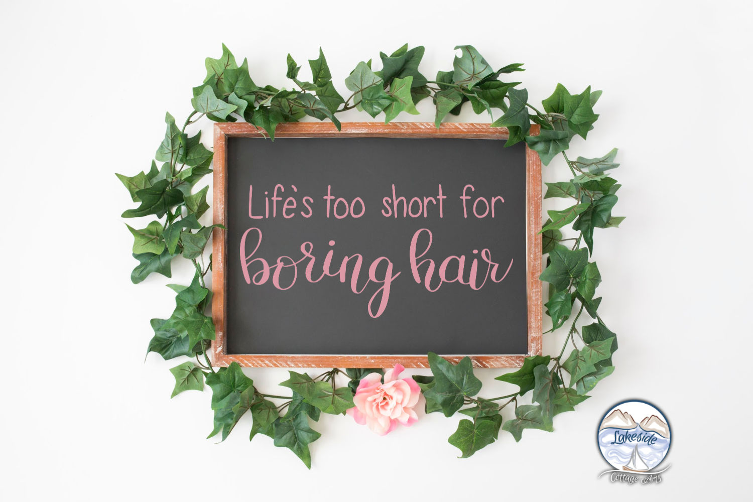 Life's Too Short for Boring Hair Hand-lettered SVG example image 4