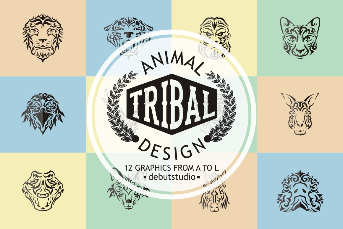 Animal Tribal Design | from A to L example image 1