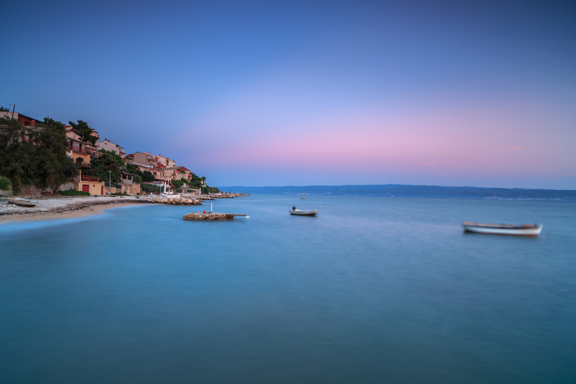 Coastline view with moving boats in Adriatic sea example image 1