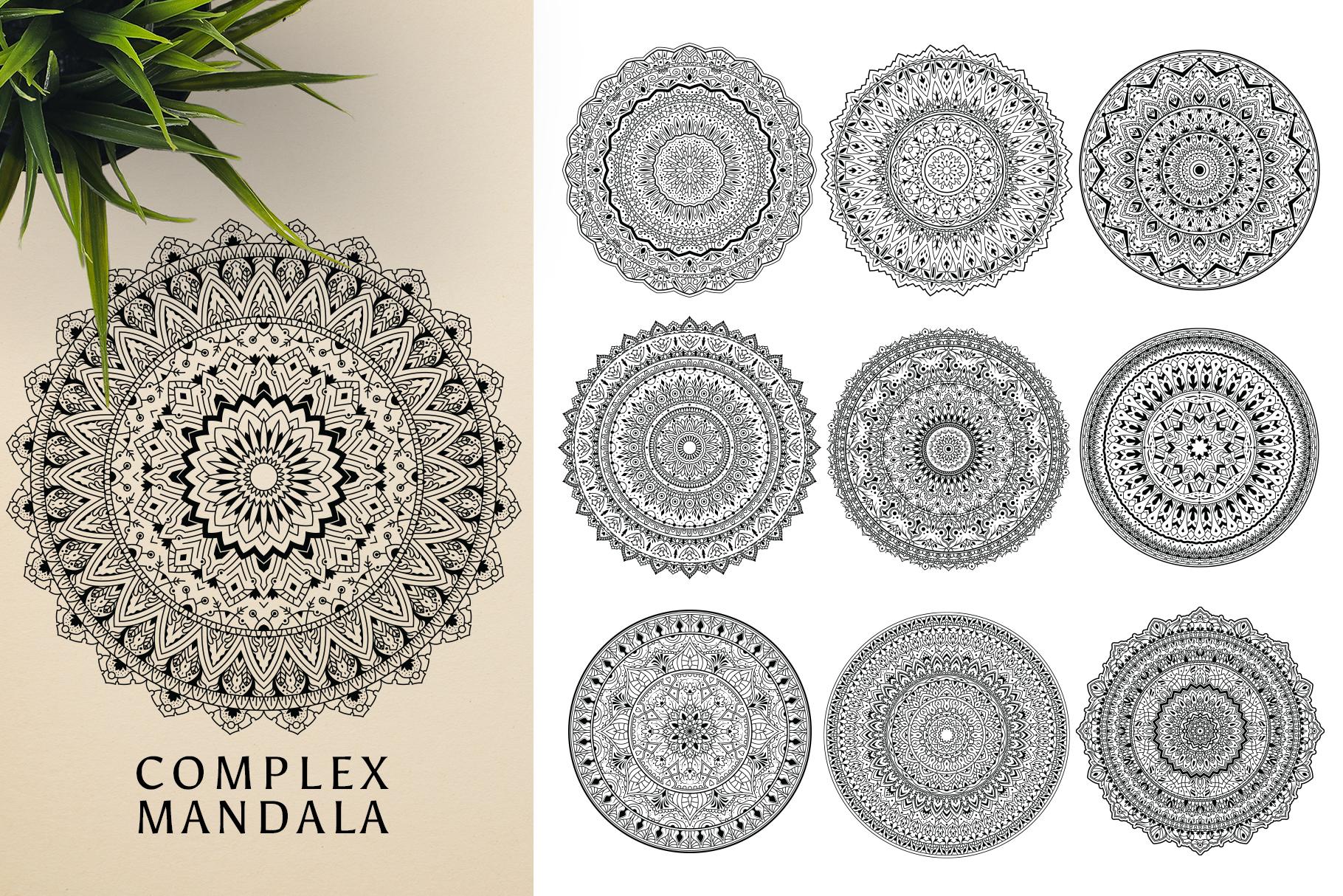 300 Vector Mandala Ornaments example image 13