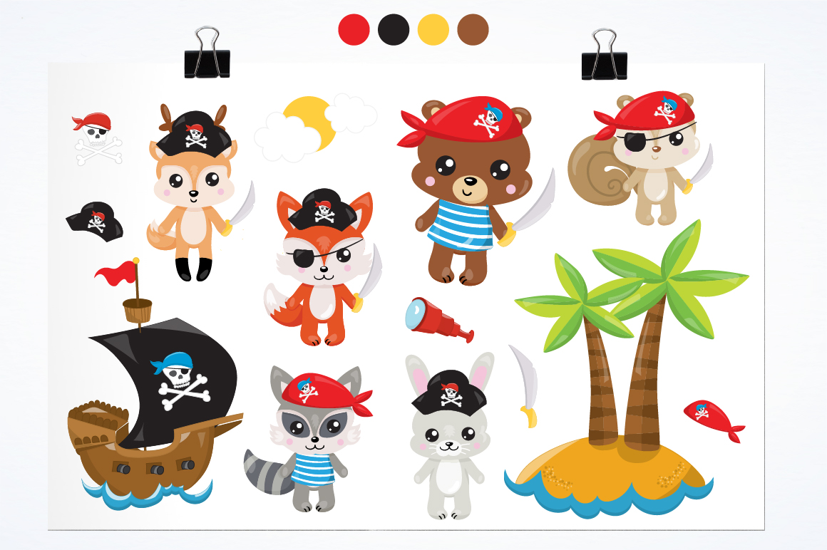 Pirates animals graphics and illustrations example image 2