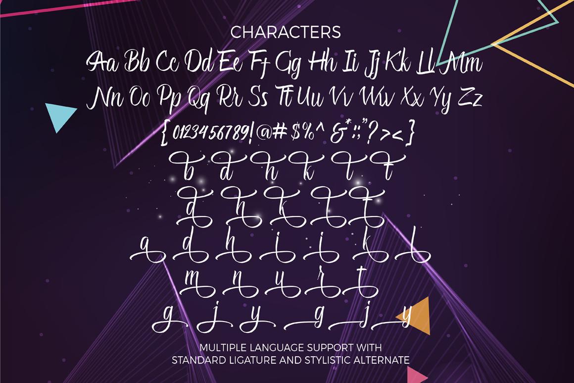 Glitter Script Font (30% Off) example image 2
