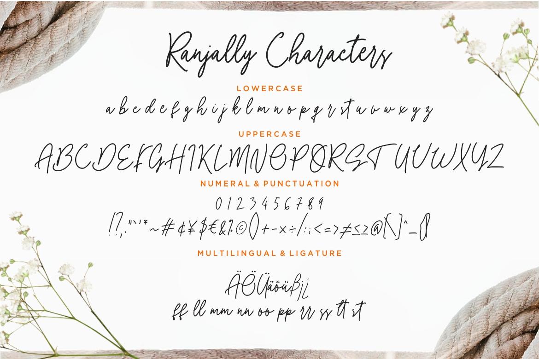 Ranjally Monoline Signature example image 7