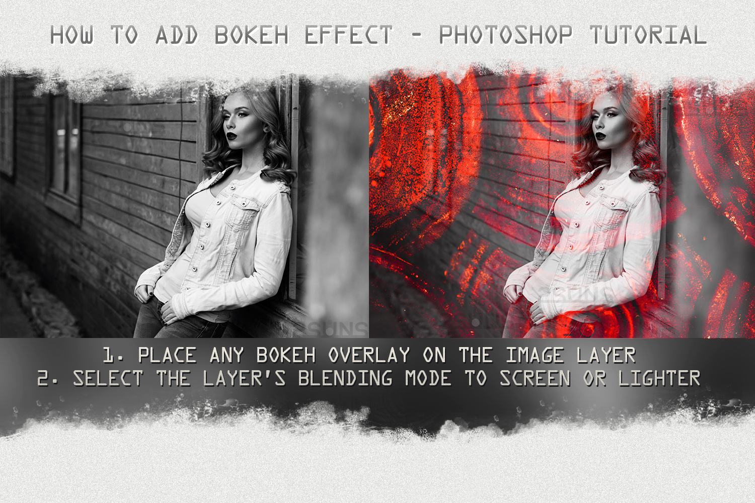 Vintage textures, Photoshop overlays, informal effects,urban example image 4