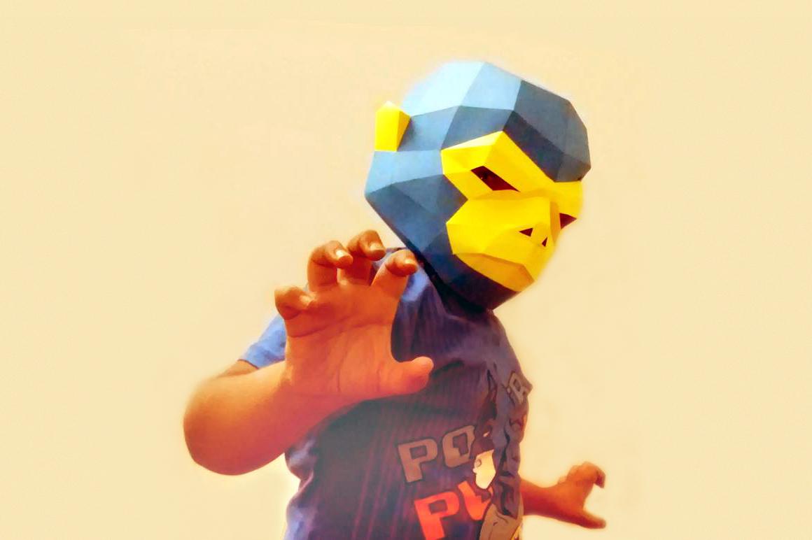 DIY Mask pack - 3d papercraft example image 4