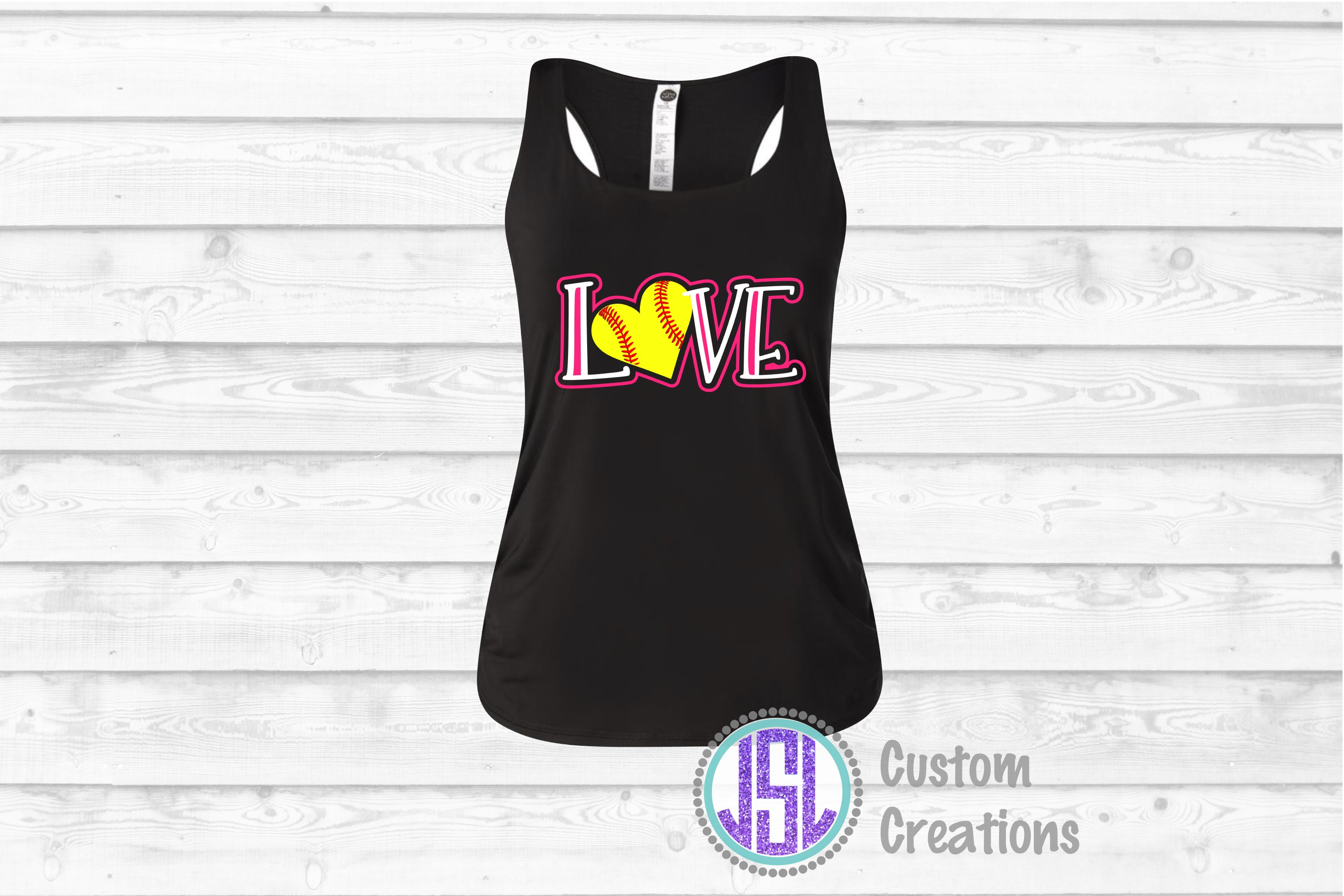 Love Softball | SVG DXF EPS PNG | Digital Cut File Download example image 2