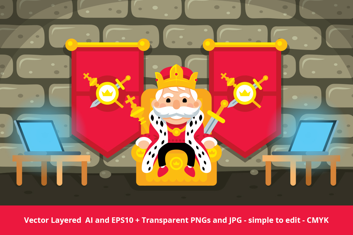 CEO King illustration example image 1