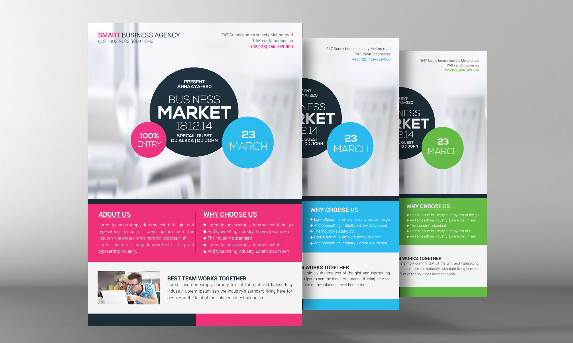 Corporate Business Flyer Temp example image 2