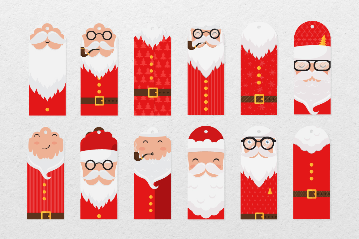 Santa Claus tags and cards example image 9