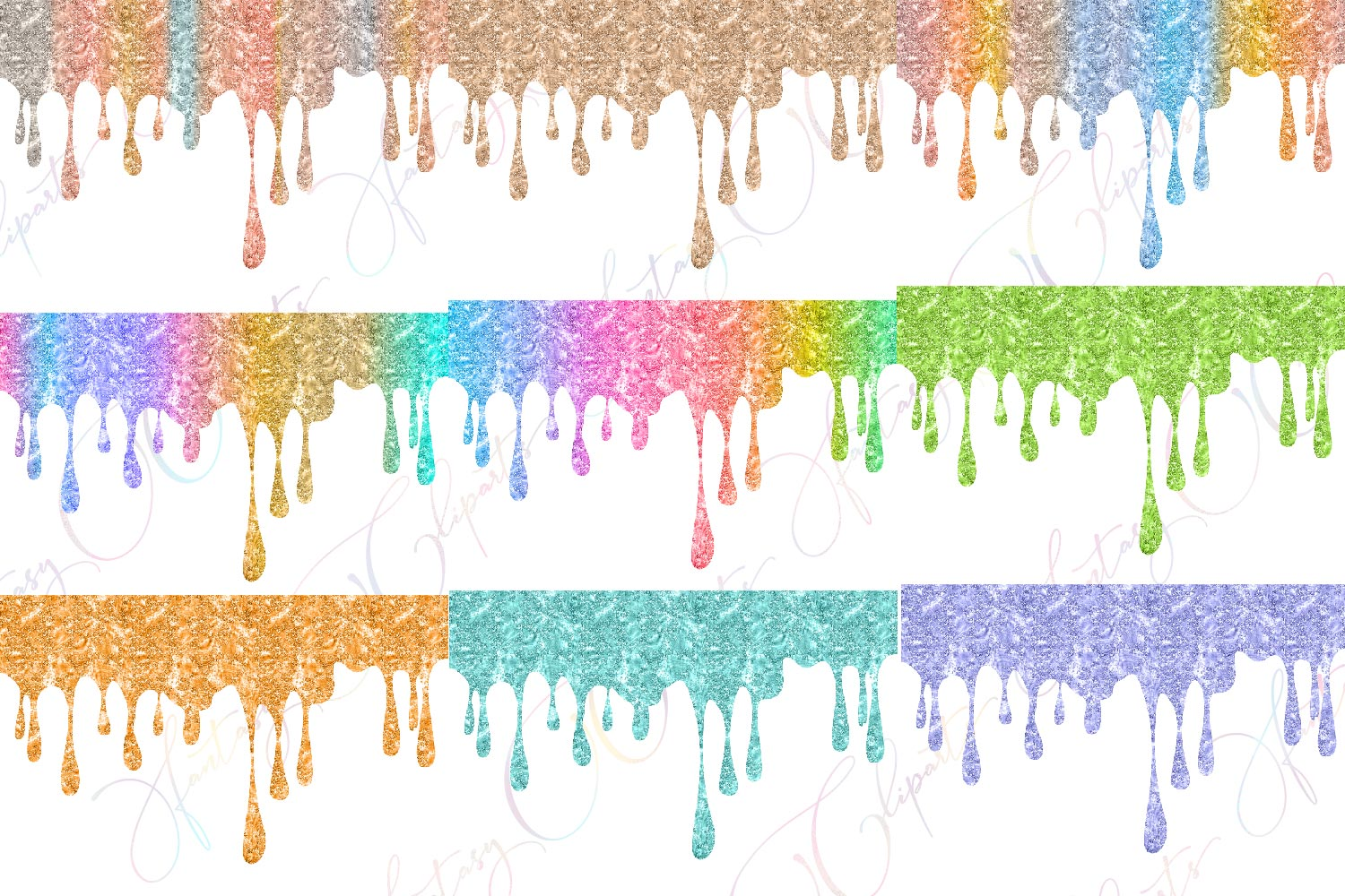 Glitter Drippings Clipart example image 3