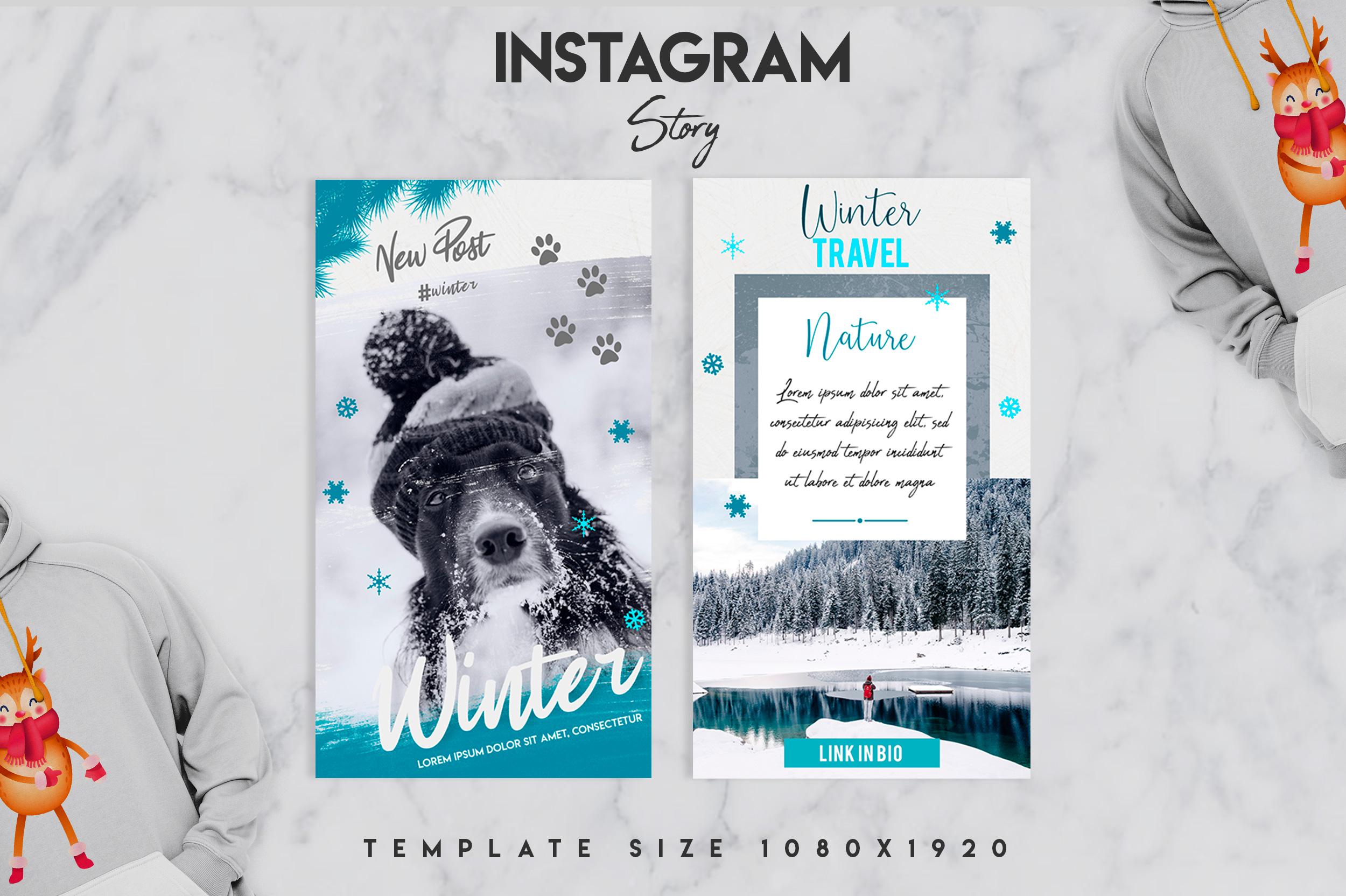 Winter instagram srory set example image 7