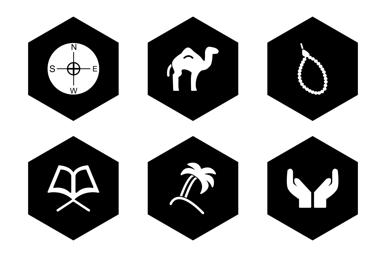 Set Of Ramadan Icons example image 1