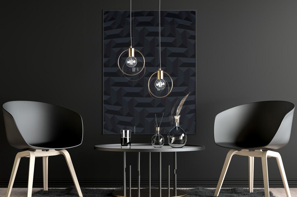 Black creative geometric posters example image 2
